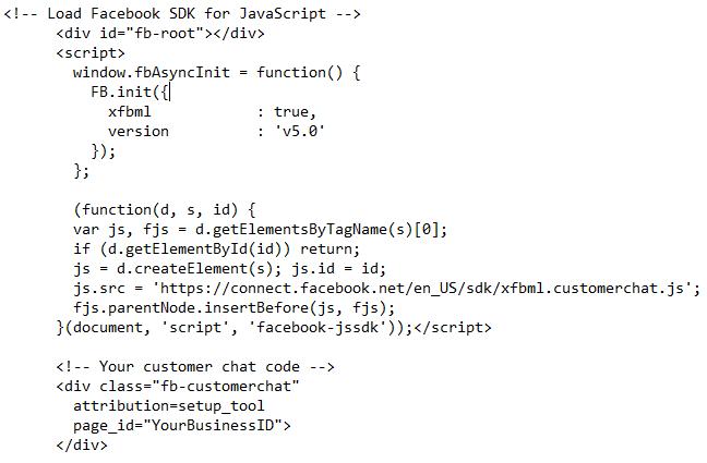 Facebook Messenger JS Script